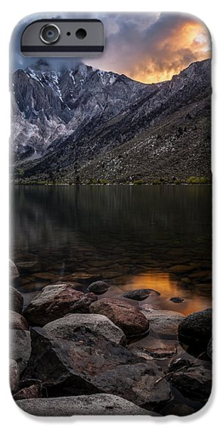 Snow iPhone Cases - Sunset at Convict Lake iPhone Case by Cat Connor