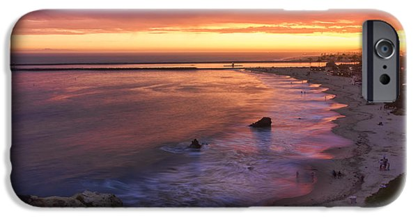 Ocean Sunset iPhone Cases - Sunset At Inspiration Point iPhone Case by Eddie Yerkish