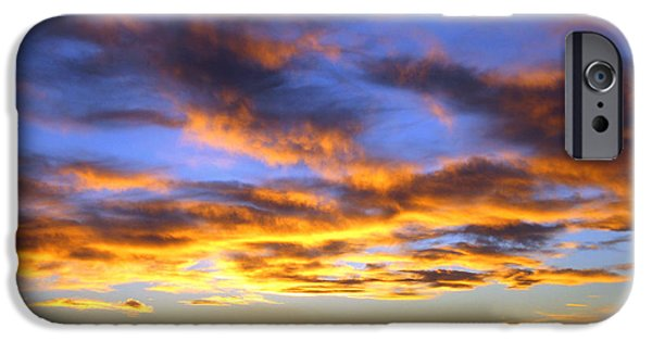 Las Cruces Digital iPhone Cases - Sunset at Picacho Peak iPhone Case by Kurt Van Wagner