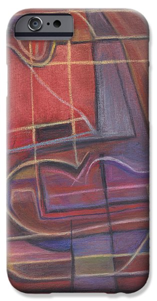 Abstract Expressionist Pastels iPhone Cases - Sunset at Sea iPhone Case by Tom Kecskemeti