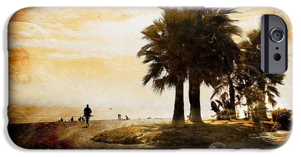 Interior Scene Mixed Media iPhone Cases - Sunset Beach iPhone Case by Clare Bevan