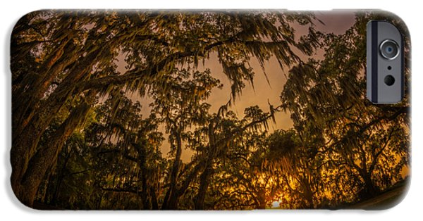 Overhang iPhone Cases - Sunset Below Spanish Arches iPhone Case by Chris Bordeleau