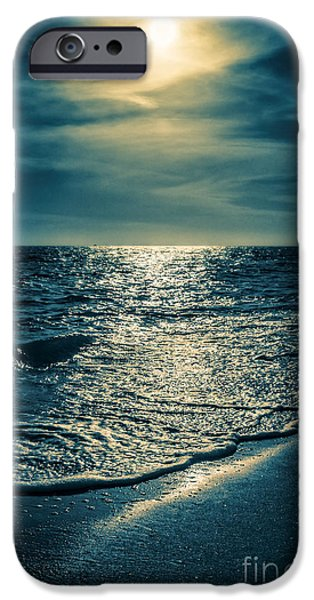 Florida House Photographs iPhone Cases - Sunset Bowman Beach Sanibel Florida iPhone Case by Edward Fielding