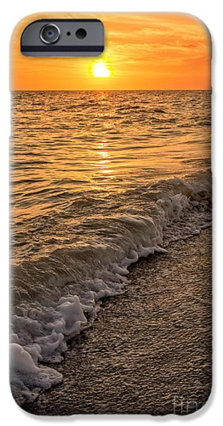 Florida House Photographs iPhone Cases - Sunset Bowman Beach Sanibel Island Florida  iPhone Case by Edward Fielding