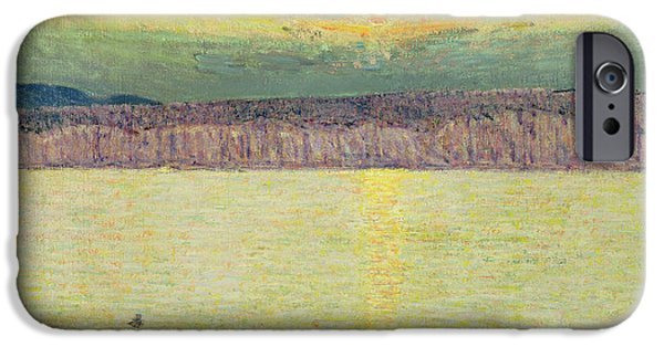 Childe iPhone Cases - Sunset iPhone Case by Childe Hassam