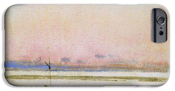 Hassam iPhone Cases - Sunset iPhone Case by Childe Hassam