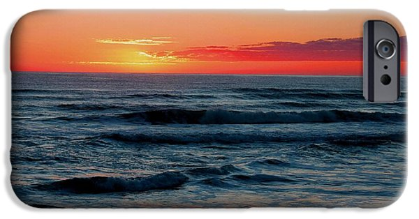 Abstract Digital Pastels iPhone Cases - Sunset For Mia H b iPhone Case by Gert J Rheeders