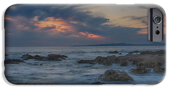 Ocean Sunset iPhone Cases - Sunset From Pacific Grove iPhone Case by Bill Roberts