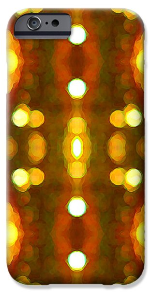 Abstract Digital Paintings iPhone Cases - Sunset Glow 2 iPhone Case by Amy Vangsgard