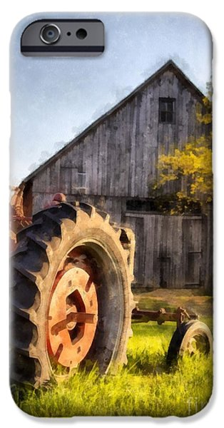 New England Farm iPhone Cases - Sunset in Etna New Hampshire iPhone Case by Edward Fielding