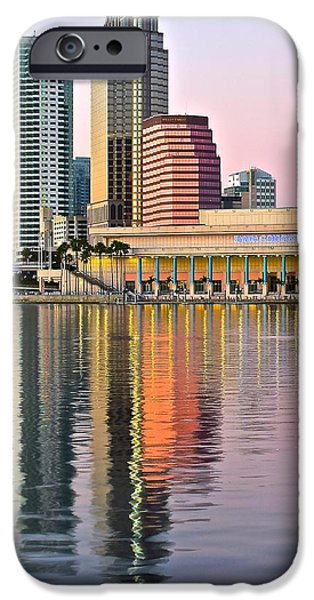 Baseball Stadiums iPhone Cases - Sunset in Tampa iPhone Case by Frozen in Time Fine Art Photography
