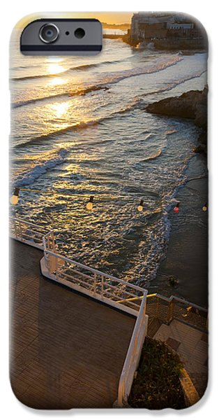 Film Maker iPhone Cases - Sunset In The Beautiful Sitges iPhone Case by Luis Martinez