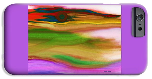 Abstract Expressionist iPhone Cases - Sunset iPhone Case by Lenore Senior