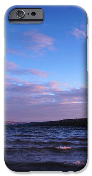 Sunset on Cayuga Lake Ithaca iPhone Case by Paul Ge
