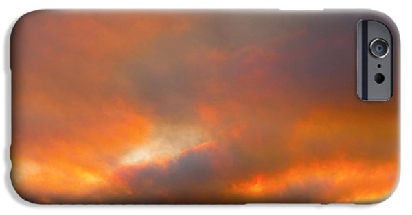 Colorado Fires iPhone Cases - Sunset On Fire iPhone Case by James BO  Insogna