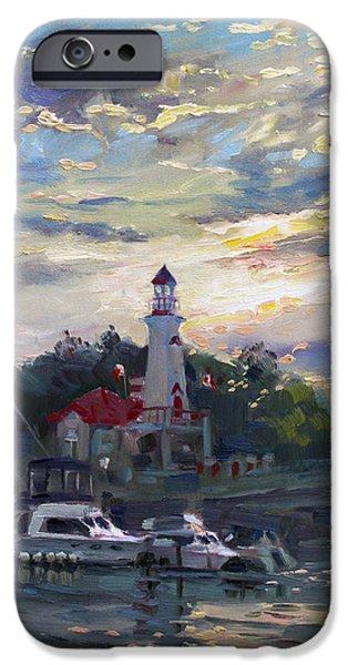 House iPhone Cases - Sunset on Lake Shore Mississauga iPhone Case by Ylli Haruni