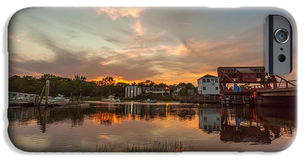 Boston Ma iPhone Cases - Sunset on The Drawbridge iPhone Case by Brian MacLean