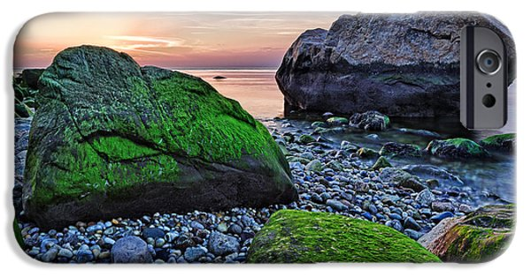 Sunset iPhone Cases - Sunset on the Beach at Horton Point iPhone Case by Rick Berk