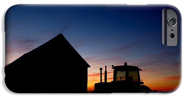 Barns iPhone Cases - Sunset on the Farm iPhone Case by Cale Best