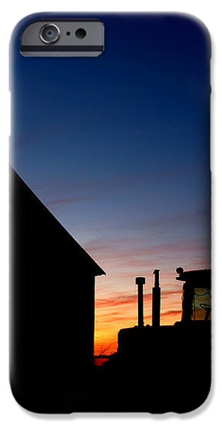 Sunset on the Farm iPhone Case by Cale Best