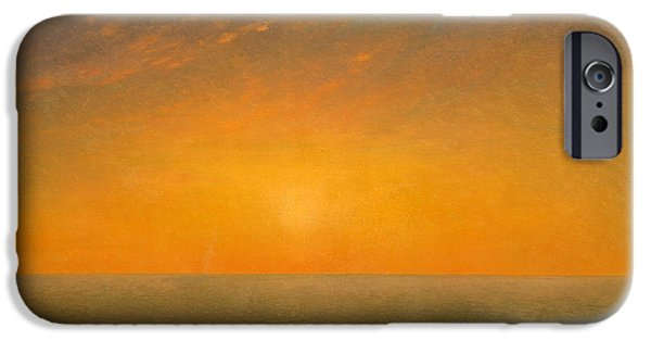 Kensett iPhone Cases - Sunset on the Sea iPhone Case by John Frederick Kensett