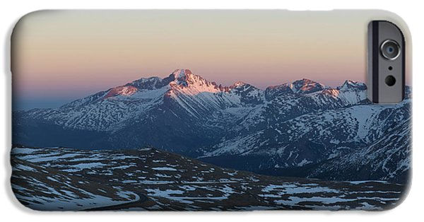 Snowy Day iPhone Cases - Sunset on Trail Ridge Road  iPhone Case by Aaron Spong