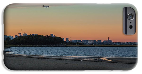 Boston Ma iPhone Cases - Sunset on Wollaston Beach in Quincy Massachusetts iPhone Case by Brian MacLean