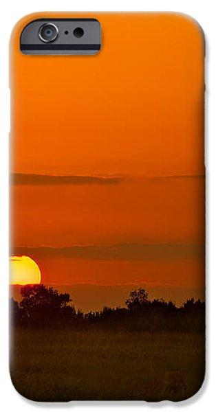 Sunset Over Horicon Marsh iPhone Case by Steve Gadomski