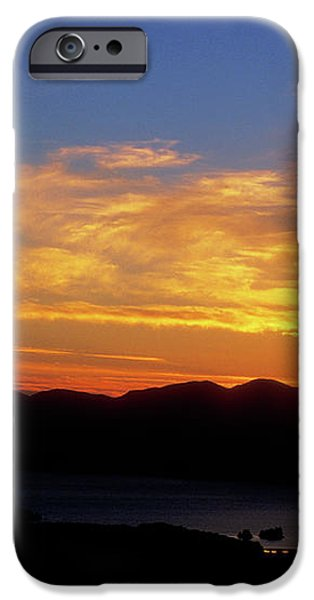 Sunset over Lake Champlain from Mount Philo iPhone Case by John Burk
