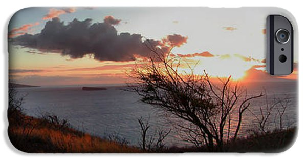 Ocean Sunset iPhone Cases - Sunset over Lanai 2 iPhone Case by Dustin K Ryan