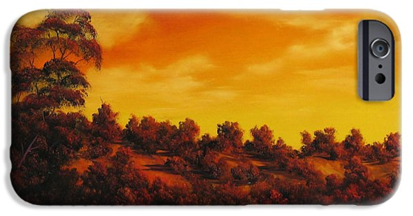 River Reliefs iPhone Cases - Sunset Over River iPhone Case by John Cocoris