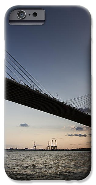 Sunset Over the Cooper River Bridge Charleston SC iPhone Case by Dustin K Ryan