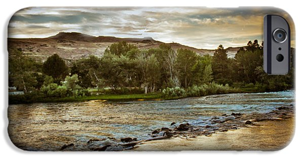 Flooding iPhone Cases - Sunset Over The Payette River iPhone Case by Robert Bales