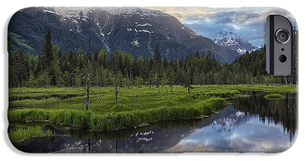 Tongass iPhone Cases - Sunset Over The Tongass National Forest iPhone Case by Robert Postma