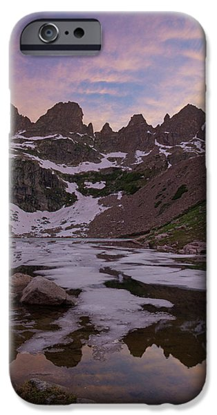 Willow Lake iPhone Cases - Sunset over Willow Lake iPhone Case by Aaron Spong