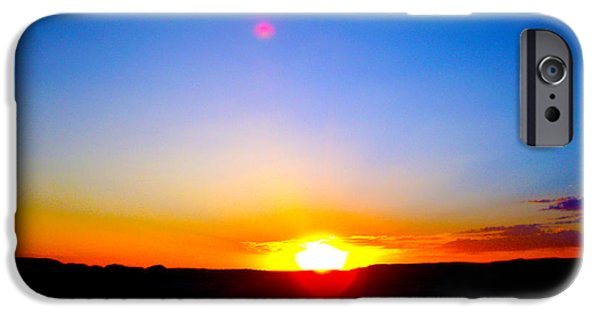 Miracle iPhone Cases - Sunset over Wyoming  iPhone Case by Barbara Dalton
