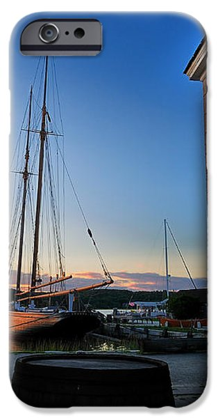 Sunset Reflections - Mystic Seaport iPhone Case by Thomas Schoeller