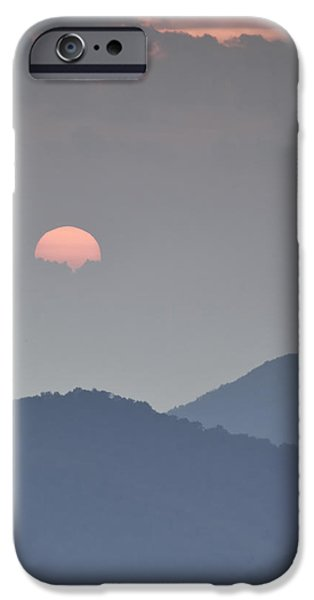 Sunset Repition - Blue Ridge Parkway Sunset Scene iPhone Case by Rob Travis