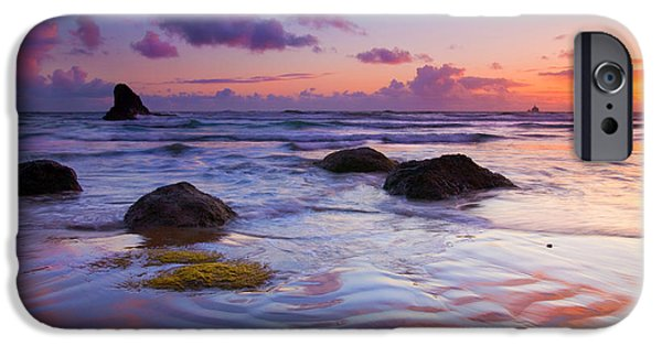 Ebb iPhone Cases - Sunset Ripples iPhone Case by Mike  Dawson