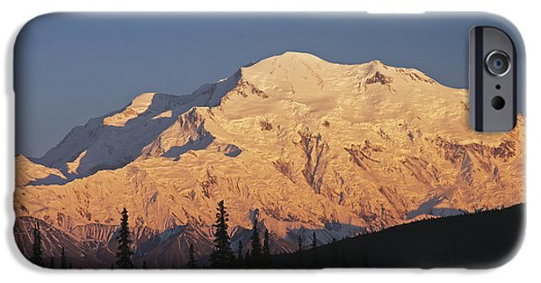 Interior Scene iPhone Cases - Sunset Scenic On Mt. Mckinley, Denali iPhone Case by Alissa Crandall