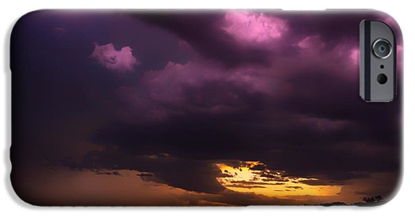 Electrical iPhone Cases - Sunset Storm iPhone Case by Foundry Co