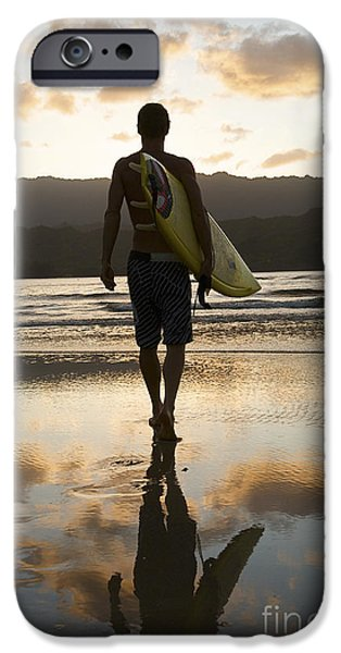 Youthful iPhone Cases - Sunset Surfer iPhone Case by Kicka Witte - Printscapes