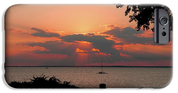 Matting iPhone Cases - Sunset View iPhone Case by Diane Murphy