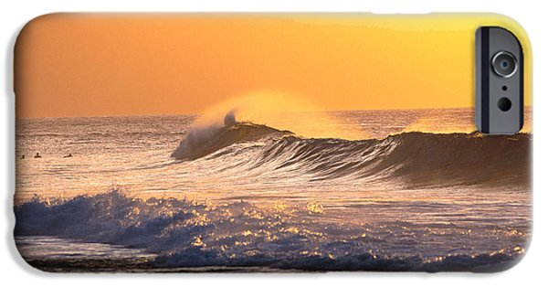 Turbulent Skies iPhone Cases - Sunset Wave iPhone Case by Vince Cavataio - Printscapes