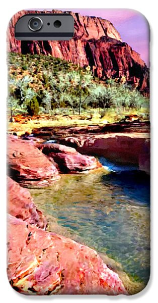 United iPhone Cases - Sunset Zion National Park iPhone Case by  Bob Johnston