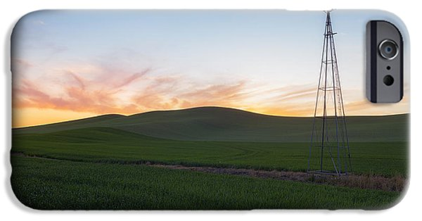 Lewiston iPhone Cases - Sunsets Blaze in Palouse iPhone Case by Ryan Manuel