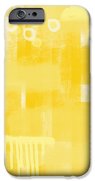 Urban Art iPhone Cases - Sunshine- abstract art iPhone Case by Linda Woods