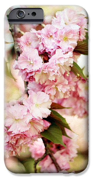 Cherry Blossoms Digital iPhone Cases - Sunshine Blossom iPhone Case by Jessica Jenney
