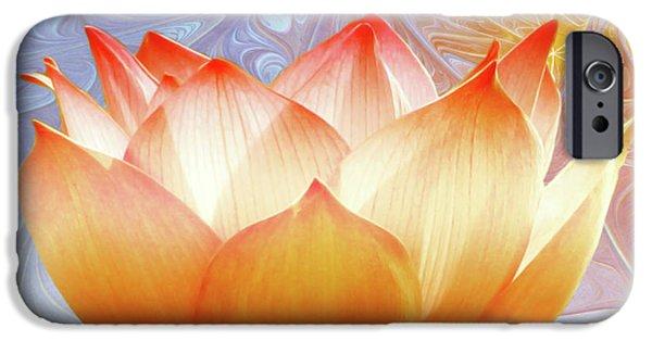 Flora Digital iPhone Cases - Sunshine Lotus iPhone Case by Photodream Art