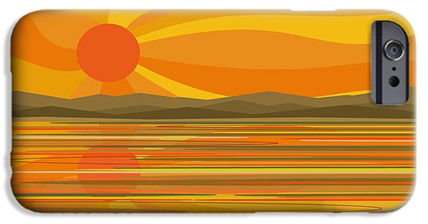River iPhone Cases - Sunshine iPhone Case by Val Arie